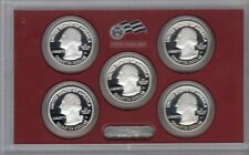 2010 American the Beautiful Quarters Silver Proof Set, United States Mint