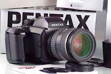 PENTAX 645 6x4.5 645n + FA 45-85 45-85mm + 120 + 220 nahe Minze in box