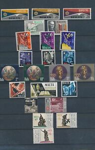 XC89951 Malta mixed thematics nice lot of good stamps MNH