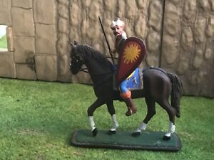 Ancient or Medieval cavalry Warrior . St Petersburg made. 54-60mm metal