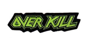 Overkill Patch Thrash Metal Music Band Logo