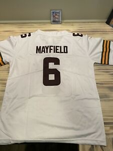 Nike YOUTH Cleveland Browns BAKER MAYFIELD ON FIELD Football Jersey YOUTH LARGE!