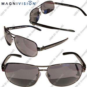 Foster Grant Mens Magnivision Design Sun Reader Bifocal Prescription Sunglasses
