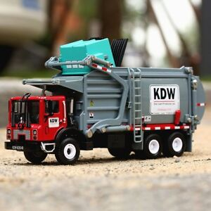 Alloy KDW Transporter 1:24 Scale Diecast Vehicle Car Garbage Truck Model Toys