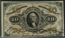 FR1253 10¢ 3RD ISSUE FRACTIONAL RED BACK W/ SIGNATURES VERY CHOICE GEM CU HW3178