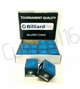 Tournament Quality 1 to 12 Cubes - PIECES / BOX of BLUE Pool Cues Tips CHALKS