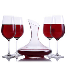 Mozart Wine Decanter 5pc. Stemmed Set by Crystalize
