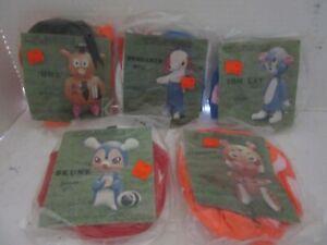 "vintage unopen lot of 5 toy inflatable 15""  animals, cat, dog, owl, skunk, tiger"