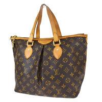 Authentic LOUIS VUITTON Palermo PM Hand Bag Monogram Leather BN M40145 86MG311