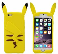 For iPhone 6 / 6S - YELLOW POKEMON PIKACHU EARS Soft Rubber Silicone Skin Case