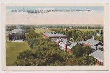 World War I Era Vintage Postcard 1918 Univ of Illinois w 2 Cent War Rate Color |