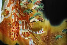 Vintage Japanese silk  Kimono  TOMESODE  from Japan 3-16