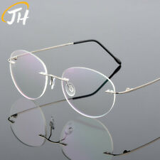 Rimless Titanium-alloy Memorry Eyeglass frames Cats eye Women Glasses Ultralight