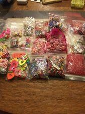 Large Lot Jewelry Making Supplies Beads Acrylic Wood Heart Flower Must See