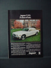 1975 Jaguar XJ12 A Class of One British Leland Car Vintage Print Ad 11362