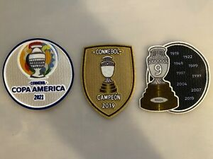 Copa America 2021 jersey patch set - Brazil