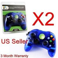 2 LOT NEW BLUE Controller Control Pad for Original Microsoft XBOX X BOX System