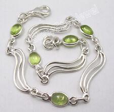925 Sterling Silver SHIVA EYE & Other Many Gemstones Bracelet ! Indian Jewelry