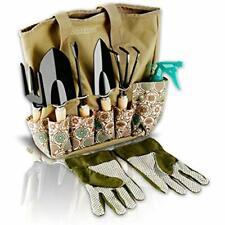 Garden Tools Trowels Set - 8 Piece Heavy Duty Gardening Tools With Storage Hand