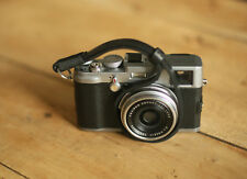 windmup all blackThickened leather 8mm Handmade camera wrist strap  More colors