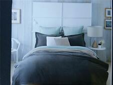 SHERIDAN CAPOTE TAILORED SINGLE QUILT COVER IN SLATE -FULLY REVERSIBLE