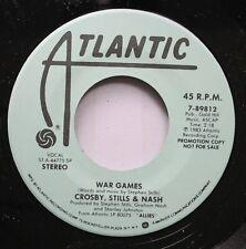 Rock Promo Nm! 45 Crosby, Stills & Nash - War Games / War Games On Atlantic