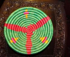 Collectible hand woven basket bowl original indian arts crafts