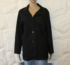 Dark Blue Denim C.A.N.D.A Button Hip Length Casual Jacket Blazer Size 18 / 46