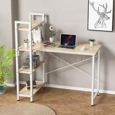 Computer Desk PC Laptop Table Bookshelf Study Home Office Workstation W/ Shelves
