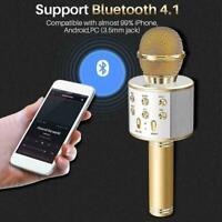 4 In 1 Wireless Bluetooth Karaoke Microphone USB Speaker KTV Equipment Mini Y9T0