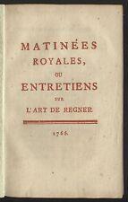 FRIEDRICH der GROSSE - sehr seltene Ausgabe der Matinées Royales 1766 Original