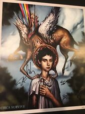 Circa Survive Blue Sky Noise Signed Print Limited Rare