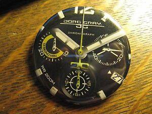 Jorg Gray Chronograph WR 200M Black Watch Advertisement Pocket Lipstick Mirror
