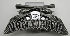 Vintage Von Zipper Belt Buckle with Built In Lighter Holder Gun Colt  Made USA