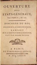 LETTRE DU ROI POUR LA CONVOCATION DES ETATS-GENERAUX A VERSAILLES, 1789.