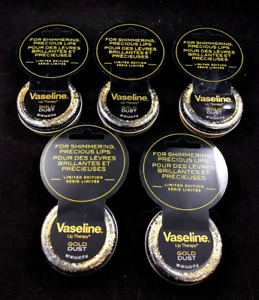 x5 Vaseline Lip Therapy Gold Dust Canister (PACK OF 5)
