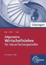 Allgemeine Wirtschaftslehre für Steuerfachangestellte   Lösungen zu 76960   Buch