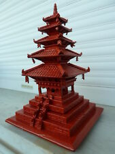 JAPANESE WOODEN PAGODA 五重の塔 Goju no tou  BUDDHIST TEMPLE VINTAGE
