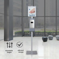 Floor Hand Soap Dispenser Stand High Traffic Area Liquid Soap Non-contact Stand
