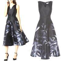 Coast Meldrey Black Grey Floral Retro 50's Occasion Xmas Party Dress rrp £169 ❤️