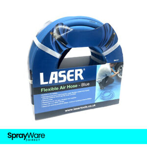 "Laser Tools Flexible Air Hose 9.5MM X 15M BLUE 6417 1/4"" BSP"