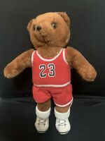 "Vintage 1991 ACE Novelty 12"" Stuffed Bear ""micheal Jordan"""