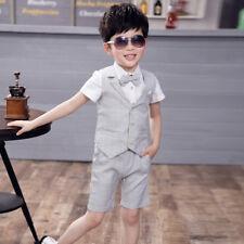 Boys Suits 4 Piece Short Set Suit Waistcoat Suit Wedding Page Boy Baby Formal