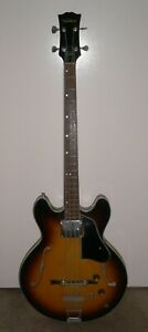 Ventura Vintage 4-String Hollow Body Electric Bass Guitar