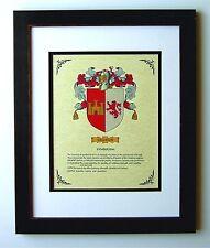 HERALDRY COAT OF ARMS ~ GALLEGOS  FAMILY CREST ~ FRAMED