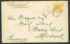 More details for 1907 western australia cover albany duplex to hobart 2d yellow adelaide steam co