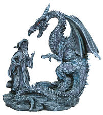 Fantasy Dragon and Wizard Figurine - RAI #90198
