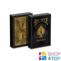 BICYCLE RIDER BACK BLACK GOLD DECK POKER SPIELEN KARTEN ZAUBER TRICKS USPCC NEU