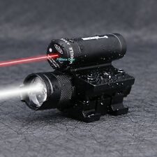 Hunting Tactical Compact Red Dot Laser with 800 LUM Focus Torch flashlight laser