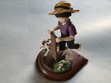 "The Amish Heritage Collection ""Aaron and Caleb"" Boy on Scooter W/ Dog Figurine"